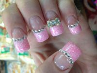 Pink Glitter Princess Nails | Nail Art | Pinterest | Pink ...