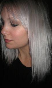 permanent silver hair