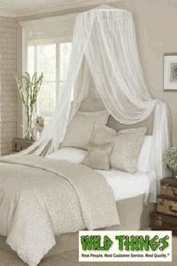 Canopy  Dreamy Mosquito Net Bed Canopy  White  Ceilings Canopy beds and Animals