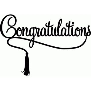 Silhouette Design Store: congratulations with tassel