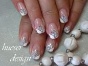 silver sparkle and opaque white
