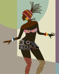 African Woman, African American Art, Black Woman Painting ...