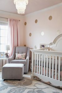 Pink grey and gold glamorous girl's nursery. It's a pretty ...