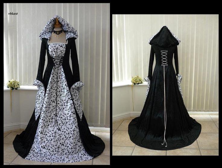 Black Amp White Gothic Wedding Dress Gothica Pinterest