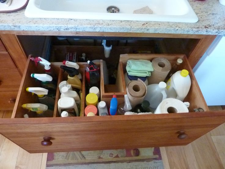 how to organize your kitchen cabinets and drawers work tables clever solutions for under-kitchen-sink storage: plumbing ...