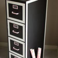 Chalkboard Paint File Cabinet Makeover | File Cabinet ...