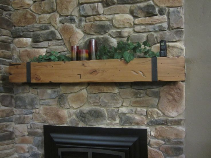 Vintage Fireplace Mantel Shelf Montana Wood Beam Timber Log Rustic Mantle Cabin  Montana