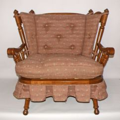 Arm Chair Covers Ebay Magenta Sashes Vintage Tell City Andover Rock Maple Rocking Settee/loveseat | Country, And Rocks