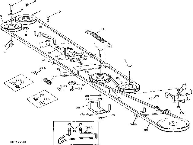 stx38 belt diagram