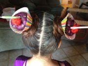 crazy hair day. cupcakes