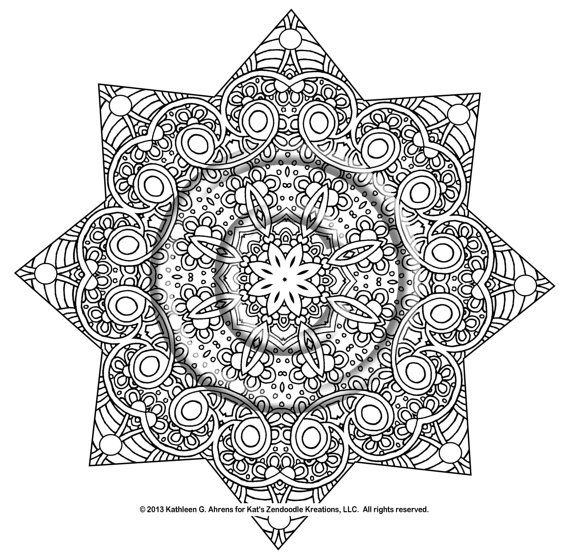 Friendship a perfect title for this adorable mandala