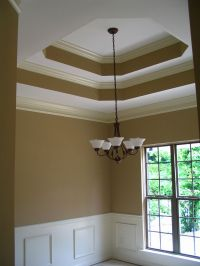 Double Tray Ceiling with crown moulding | paint ...