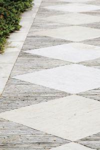 Diamond paving pattern | The Cedars, by Nelson Byrd Woltz ...