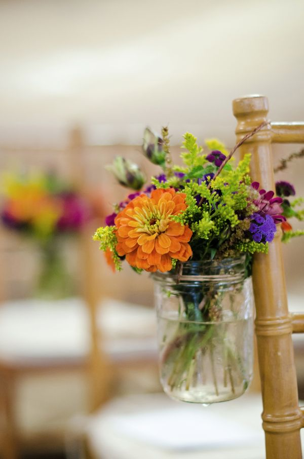 Norristown PA Rustic Wedding Colleen  Paul  Fall flowers Wedding and Mason jars