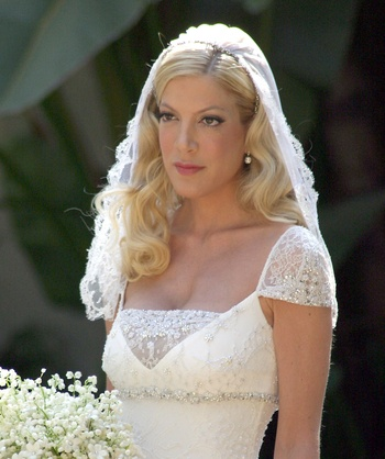 Tori Spelling was a traditional bride at her 2004 wedding to first husband Charlie Shanian Her