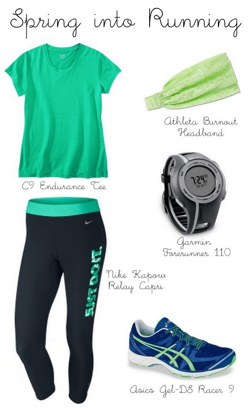 Spring Running Outfit… Because cute workout clothes motivate me :)