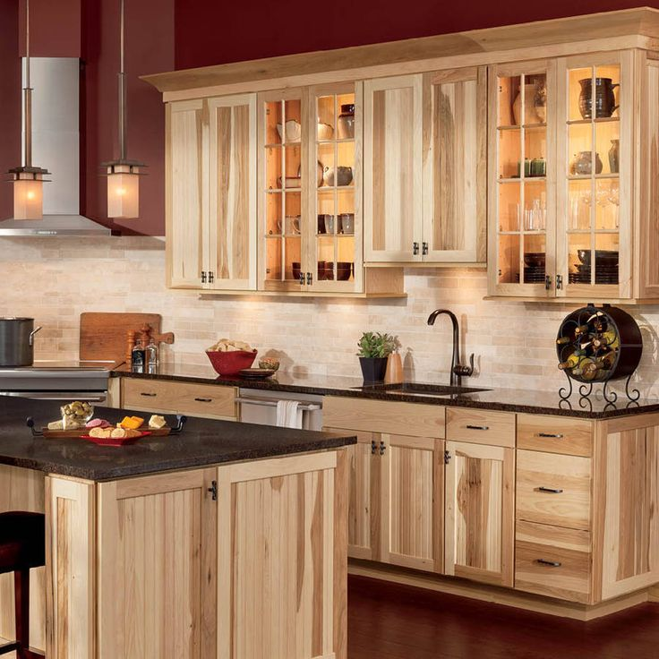 Best 25 Hickory Cabinets ideas on Pinterest  Hickory