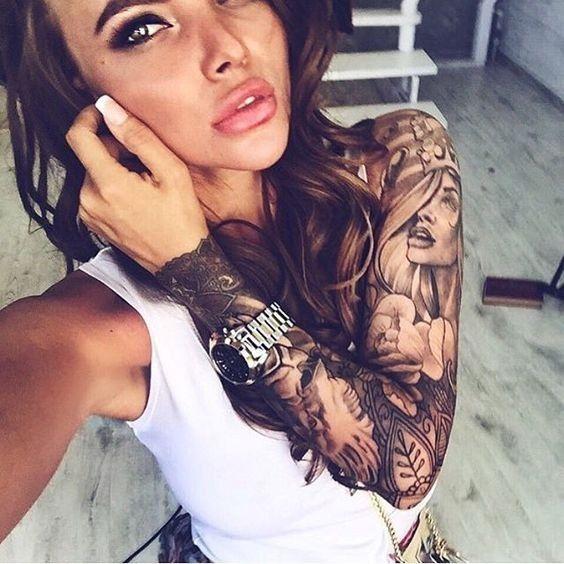 25+ Best Ideas About Girl Sleeve Tattoos On Pinterest