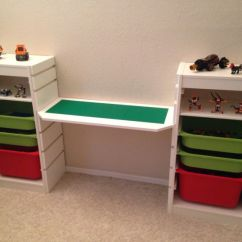 Bedroom Desk Chair Ikea Best Office For Long Hours Reddit Lego Used Trofast The Ends And Had My Dad Make Middle Plank Notches ...