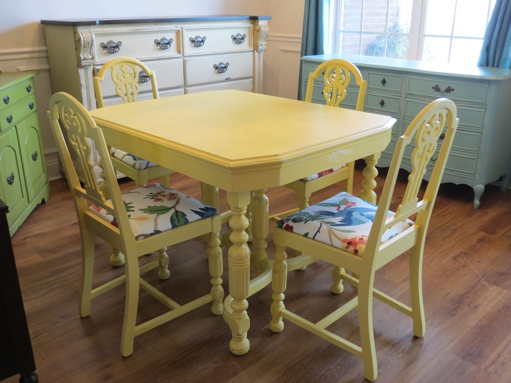 25 best ideas about Yellow Kitchen Tables on Pinterest