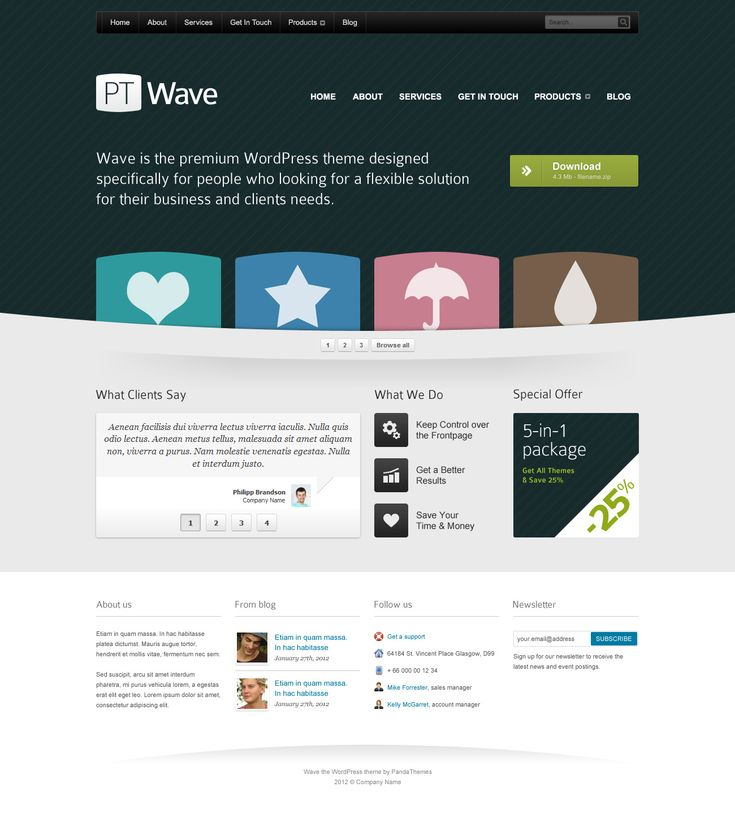 The 25 Best Ideas About Homepage Template On Pinterest Web