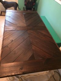 25+ best ideas about Chevron Table on Pinterest   Wood ...