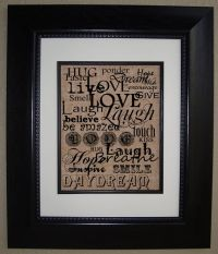 For the Home Office: Live Love Laugh BURLAP Subway Art ...