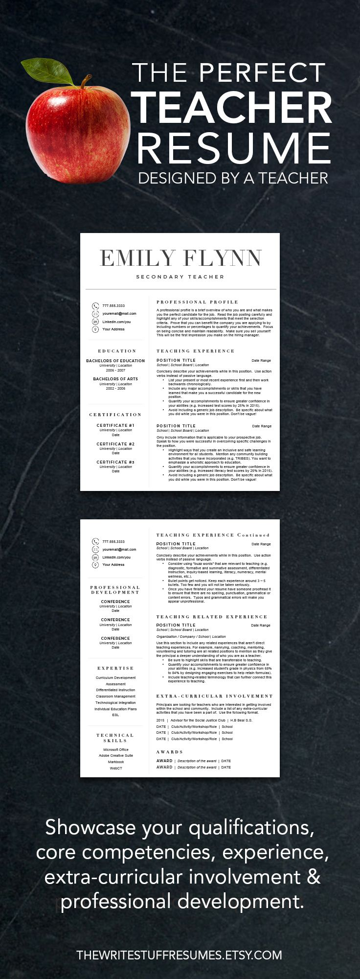 Best 25 Teacher resume template ideas on Pinterest  Resume templates for students Application