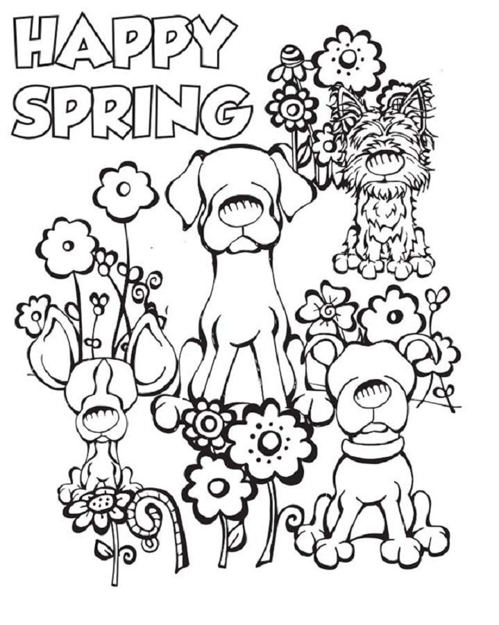 17 Best images about Spring coloring pages on Pinterest