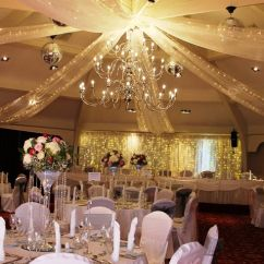 White Wedding Chair Covers Uk Baby Alive High Set Airth Castle; Organza Ceiling Swags With Fairy Lights. Www.zenith-events.co.uk | Swagging ...