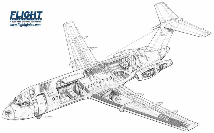 89 best images about Airliner Cutaway Drawings on