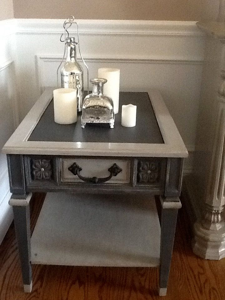 2 tone chalk painted end tables  Google Search  Ideas