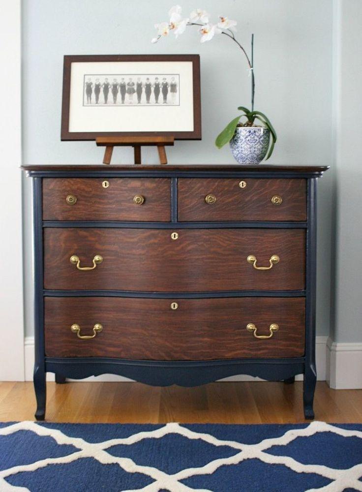 Vintage Dresser Restoration  Before and After  Vintage dressers Furniture and Painted furniture