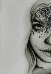 sugar skull drawings ideas