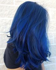ideas blue hair