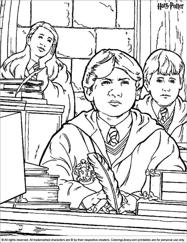 93 best images about Coloring Pages (Harry Potter) on