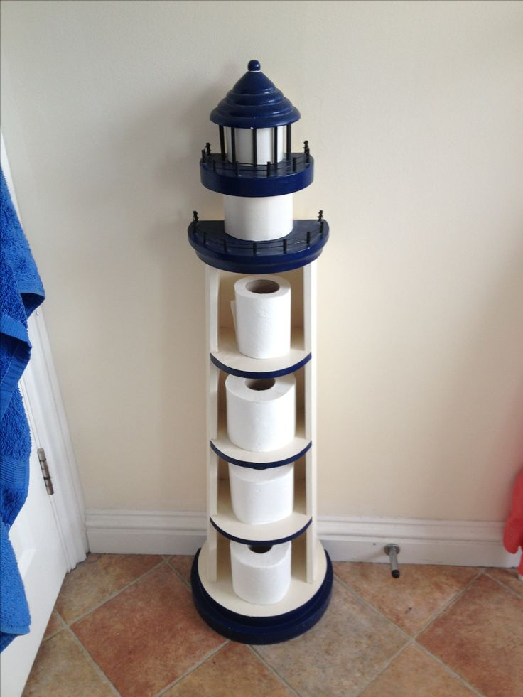 Lighthouse toilet paper roll holder What a fun idea