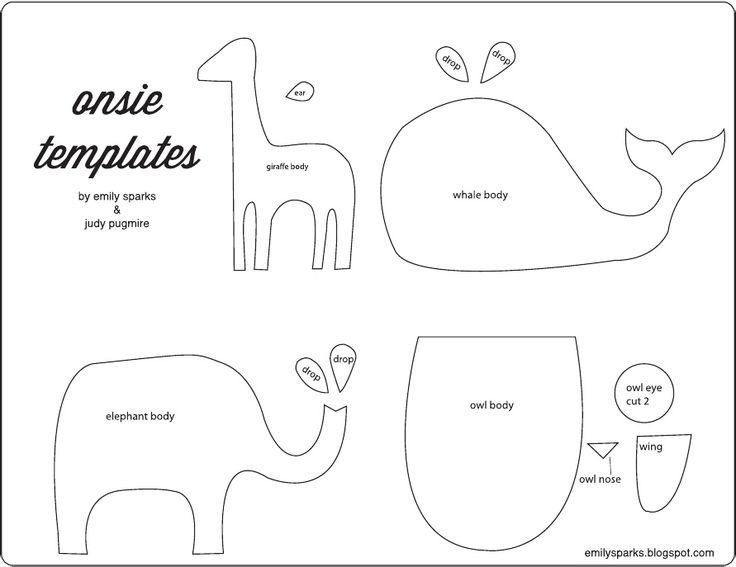 Template. Need elephant for boys' bathroom stepstool