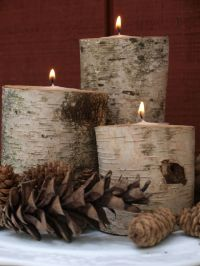 17 Best ideas about Log Candle Holders on Pinterest ...