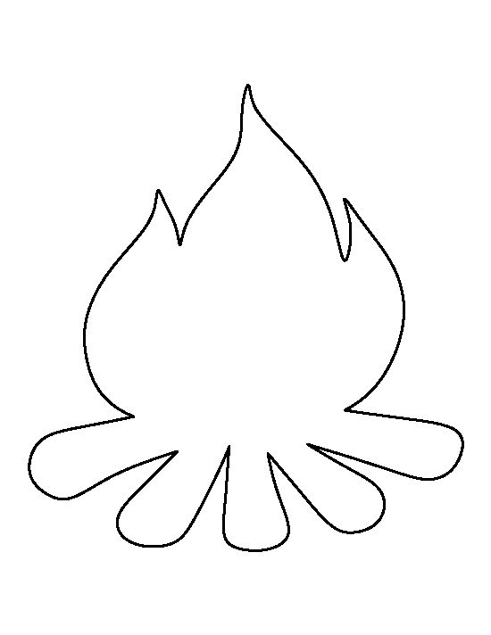 Campfire pattern. Use the printable outline for crafts