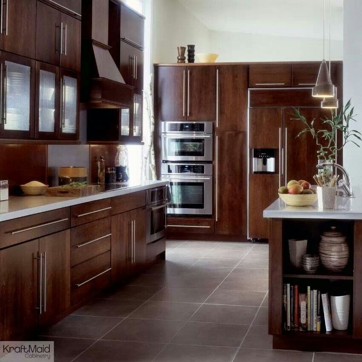 Beautiful KraftMaid Malibu Cherry Cabinets  For the Home