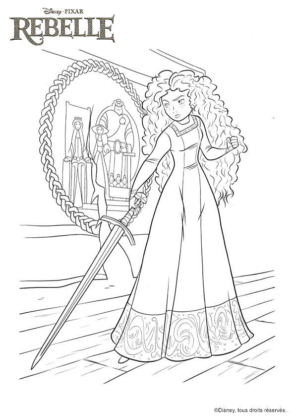 108 best images about Coloriage de princesses on Pinterest