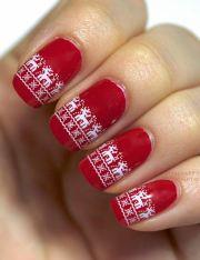 christmas nail art design cute