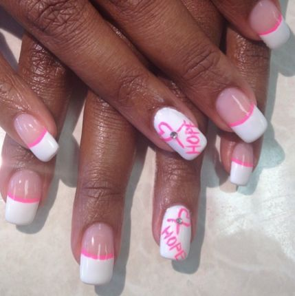 17 Best ideas about Breast Cancer Nails on Pinterest