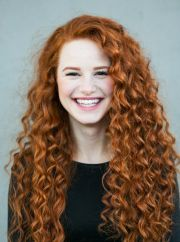 madelaine petsch curly red hair