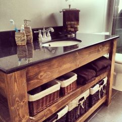 Industrial Kitchen Faucet Small Cabinet Custom Vanity. Sink Top From Rona, Base $50 2x4 And ...