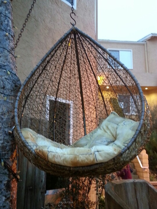 Cool hanging chair  Putting a smile on my face