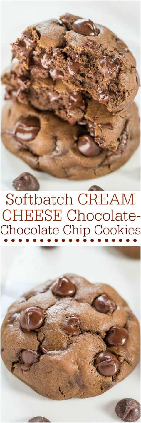 Softbatch Cream Cheese Chocolate-Chocolate Chip Cookies – Cream cheese keeps them super soft! Say hello to your new favorite