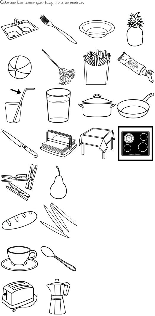 cherchez l´intrus: quels objets n´appartiennent pas à la