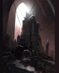 concept throne room fantasy dark cyberpunk